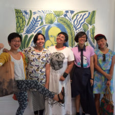 With WANITA artists from Jakarta, FCAC, 2015